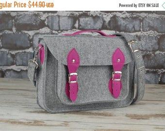 Christmasinjuly Laptop bag 13 in, felt satchel, macbook pro, macbook air 13 inch shoulder bag sleeve, case, bag with leather