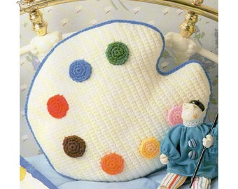 Crochet Pattern   Crochet Pillow Pattern   Palette Pillow   Accent Pillow   Decorative Pillow   Vintage pattern