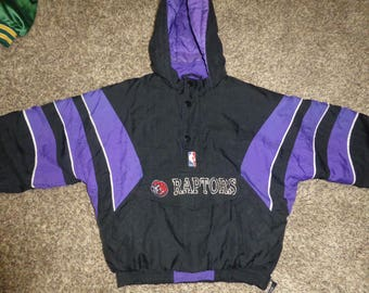 Vtg Toronto Raptors Starter NBA Youth Winter Hooded Jacket Sz Youth M