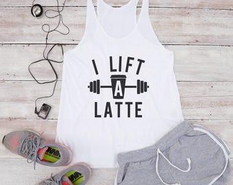 I life a latte shirt funny shirt women gift shirt quote shirt teen girl cool shirt women tank top women shirt women top racerback tank top