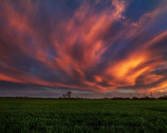 Oklahoma Sunset, Sunset Photography, Sunset Picture, Sunset Landscape, Oklahoma Sky, Sunset Print, Nature Photography, Sunset Wall Art