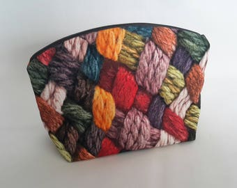 Knitting Bag / Project Bag / Wool Design Size M