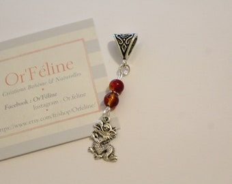 """Pendant """"China"""" - small Pearl & charm - 1 euro for the association."""