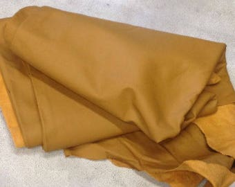 A12 Leather Cow Hide Cowhide Upholstery Craft Fabric Dark Tan 47 sq ft
