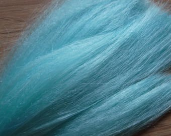 """Synthetic Hair for Braiding, Cosplay, or Crafts - 100% Kanekalon 24"""" Jumbo Braid in Sky Blue Color"""