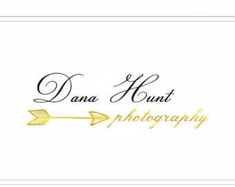 ON SALE Premade Photography Gold Logo + Watermark  - L075