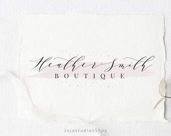 Premade Boutique Logo Template, Salon Logo Branding, Logo Watercolor, Handwritten Logo, Calligraphy Logo, Makeup Artist Logo Design, L141