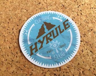 Legend Of Zelda sticker - Hyrule Climbing Club