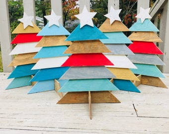 Wooden Table Top Christmas Tree