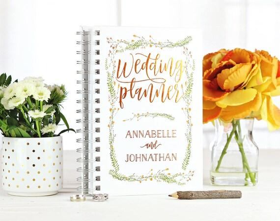 Personalized Wedding Planner Fall Wedding Custom Planner Future