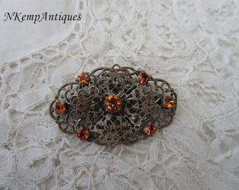 1930's filigree brooch