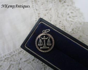 Silver Libra pendant real silver