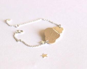 Great bracelet 925 Sterling Silver Star Cloud
