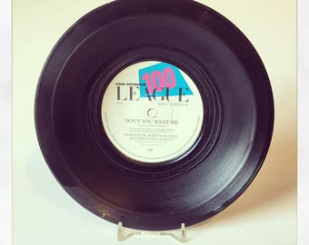 Upcycled Stretched Vinyl Single Bowl - 'Don't You Want Me' The Human League.