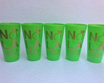 New Orleans Bachelorette Party Cups, New Orleans Girls Weekend, NOLA, New Orleans Bachelorette Party, New Orleans Wedding