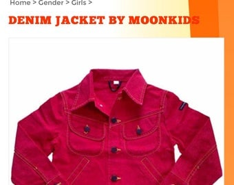 Demin Red Jacket by Moonkids