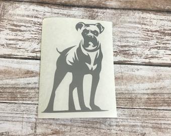 Boxer Dog Animal Vinyl Decal Car Laptop Wine Glass Sticker