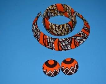 Orange Ankara 3 Pieces Set