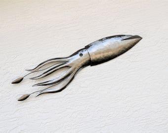 Wall Squid Sculpture