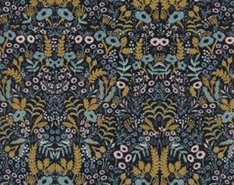 MENAGERIE By Rifle Paper Co.  For Cotton And Steel Fabrics Tapestry Metallic Midnight
