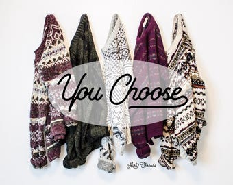 YOU PICK - Vintage Sweaters Oversized Graphic Tribal Aztec Cosby Floral Grunge Cozy Small Medium Large Xl Cozy Comfy Slouchy Nordic Sweater