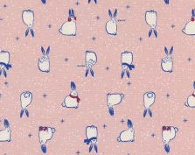 Snow Fuzzies in Pink- Noel by Cotton and Steel- Holiday Fabric