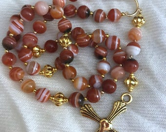 Agate rosary