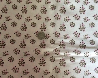 Flower flannel fabric,  pink Flannel Fabric