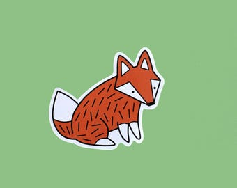 Fox Vinyl Sticker