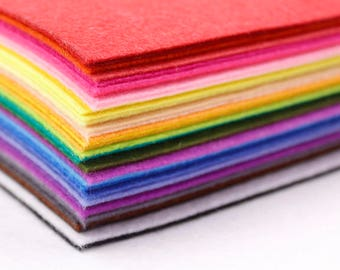 "Stiff Wool Felt Sheets - You will get 40 Sheets of 12"" x 12"" in Various Colors (Worldwide Free Shipping)"