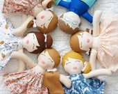 DESIGN-A-DOLL, Custom Handmade Doll, Fabric Doll, Cloth Doll, Rag Doll, Nursery Decor, Plush Doll, Heirloom Doll, Baby Gift