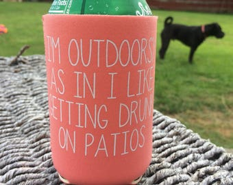I'm Outdoorsy Can Cooler