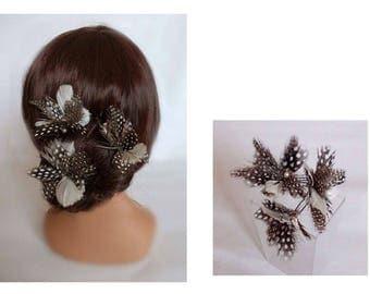 Woodpecker feather, wedding hat, Haarnadeln hair, wedding hair accessories, hair pins