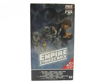 Vintage The Empire Strikes Back VHS Tape Star Wars Video Tape