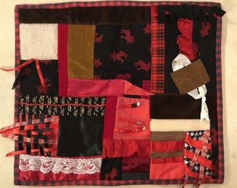 Fidget Quilt / Sensory Blanket - Moose on the Loose