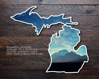 Michigan Mitten Vinyl Decal Sticker A6