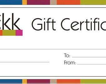 Kekk Store Gift Certificate