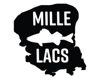 Lake Mille Lacs Fishing Car Decal