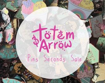 Seconds Sale Pins, Sale pins, Seconds pin sale, enamel pin, cute enamel pin, pug pin, food pin, food jewellery, ice cream pin