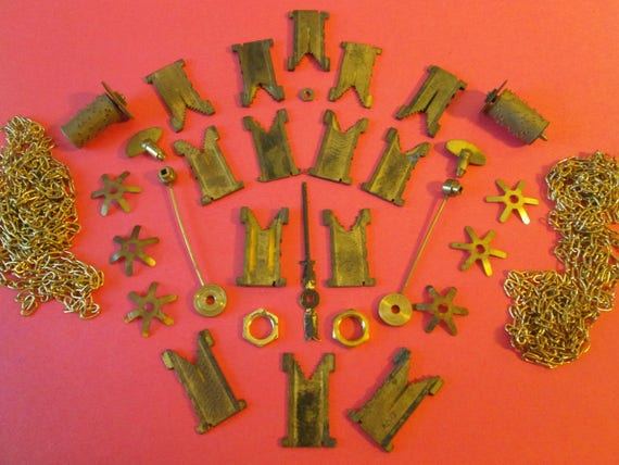 Nice Steampunk Art Lot of Assorted Antique & Vintage Clock Parts and Hardware for your Clock Projects, Jewelry making, Altered Art, Crafts