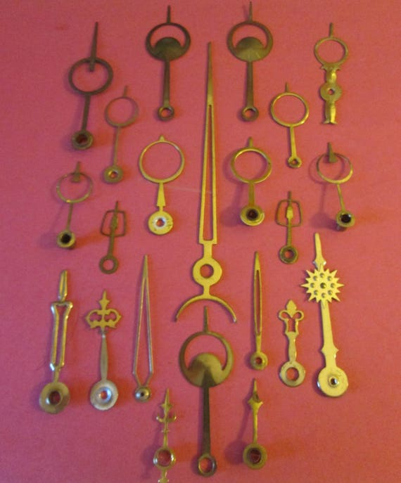 22 Assorted Vintage Moon and Circle Design Clock Hands for your Clock Projects, Steampunk Art, Jewelry Crafts