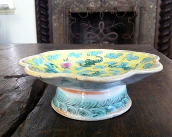 Old Chinese Ceramic, Cup-Cake Riser, Antique Dish