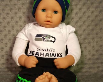 Seahawks Game Day Outfit, Seattle Seahawks, Seahawks  Baby Pants | Baby leggings