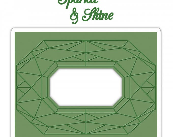 New! Sizzix Impresslits Cut & Emboss Embossing Folder - Diamond Geometrics 661954