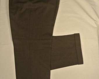 Austin Reed London Solid Brown 100% Wool Dress Pleat Trousers Men's Size: 40x32