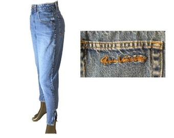 Vintage Gloria Vanderbilt Jeans | High Waisted Jeans | Tapered Leg  | Blue Denim