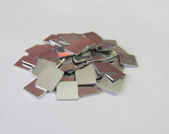 1/2  x 1/2 - 18g Aluminum -Tumbled blanks -PREMIUM - square blanks - hand stamping blanks - tiny squares - initial blanks - earring blanks