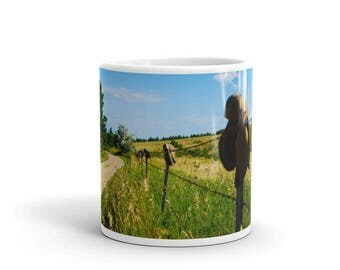 Mug - Red Silo Original Art - Boot Fence H