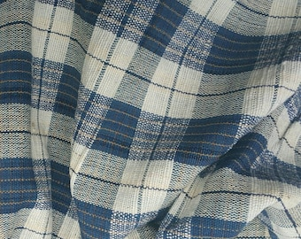 hand woven natural indigo dyed cotton fabric by the meter (H267)