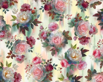 Rosewater Roses Breathtaking Floral Quilting Treasures #5922 By the Yard